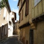 Alet-les-Bains gatvė ir balandidės
